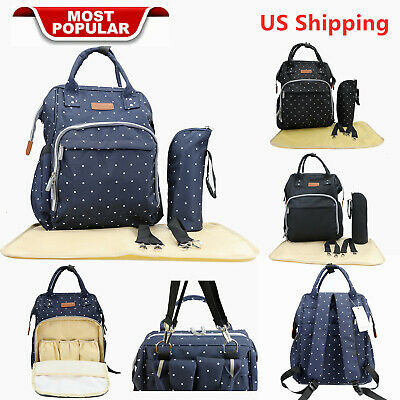Baby Diaper Nappy Bag Backpack for Mom and Dad Organizer Pouch /& Changing Pad