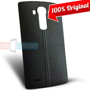 online store f9e7b c341c Details about OEM LG G4 Original Leather Back Door Battery Cover  Replacement Black w/ NFC