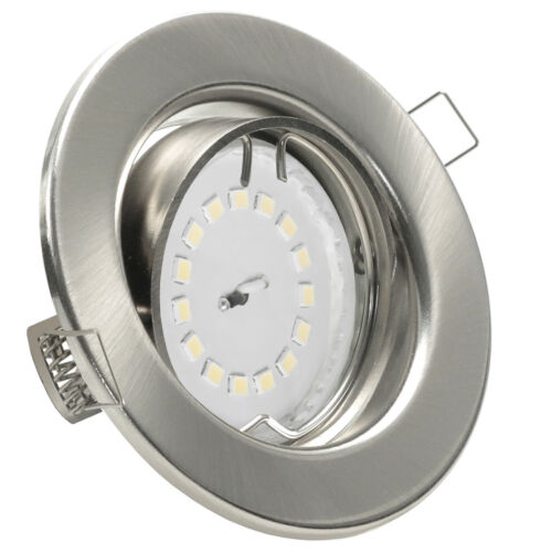 Set Einbaustrahler SMD LED Leuchte 5W GU10 dimmbar o.Dimmer Spot 230V DECORA SD