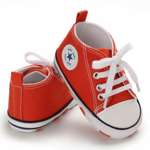 Newborn Boy Shoes Sneaker Sole 0-18 Months Soft Crib Girl Newborn Baby Infant