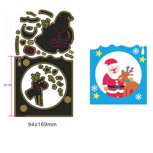 Santa Claus Navidad Corte De Metales Die Hazlo tú mismo álbum plantilla gofrado Scrapbooking
