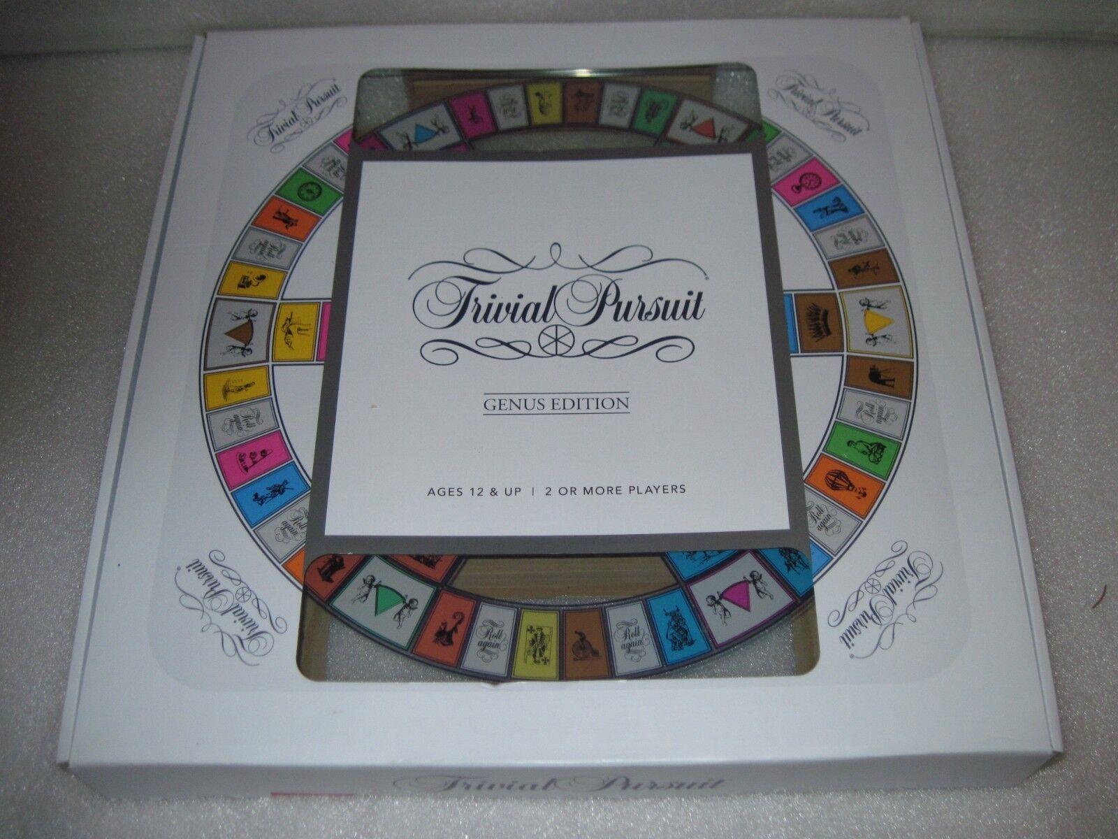 Marque Nouveau TRIVIAL PURSUIT Genus Edition verre trempé Game Board Trading Game