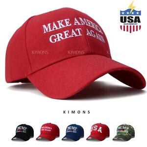 Trump Hat Cap President Make America Great Again MAGA Baseball RED ... 9ecdbaf61b9