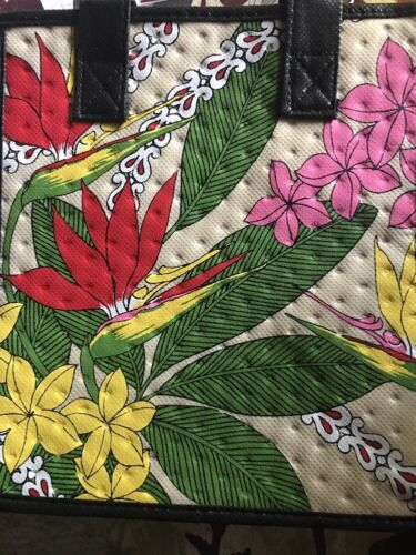 9X8X6 Insulated Bag For Lunch,Baby Bottles,iPad Hawaiian Tropical Flowers.