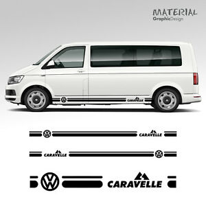 Volkswagen-VW-Transporter-Side-Stripe-Decal-Caravelle-T4-T5-T6-Vehicle-Graphic