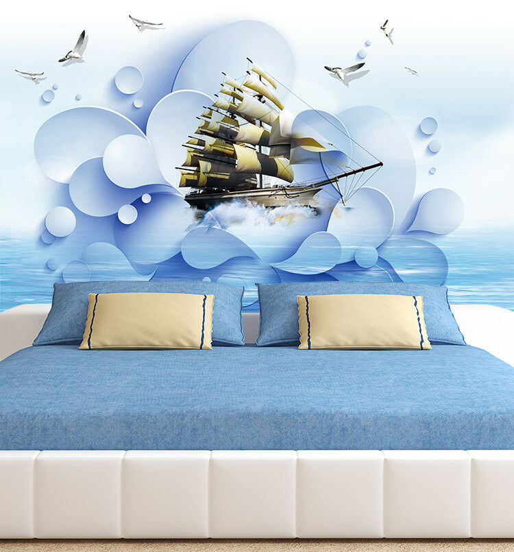 3D Seesegeln Vogel 632 Tapete Tapeten Mauer Foto Familie Tapete Wandgemälde DE