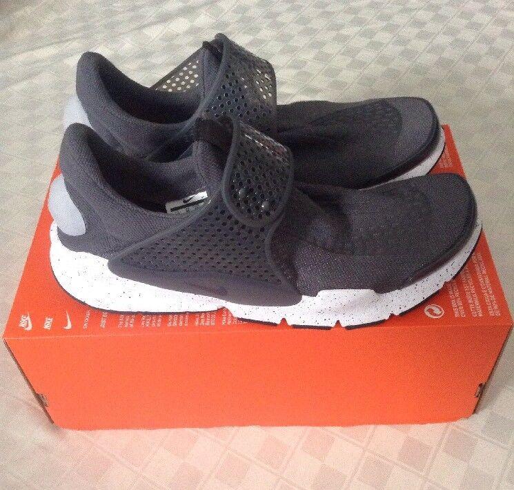 Nueva Nike Air Sock 11 Dart hombre zapatillas SZ 11 Sock 819686-003 lobo gris zapatillas fad026