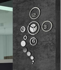 Moderne Wanduhr Design Wandtattoo  Horloge Murale Wallclock  Wandklok Geschenk