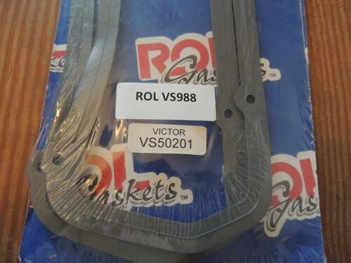 ROL VS988 Valve Cover Gasket Set for 1988-92 Ford 232 CID 3.8L V6 Cyl
