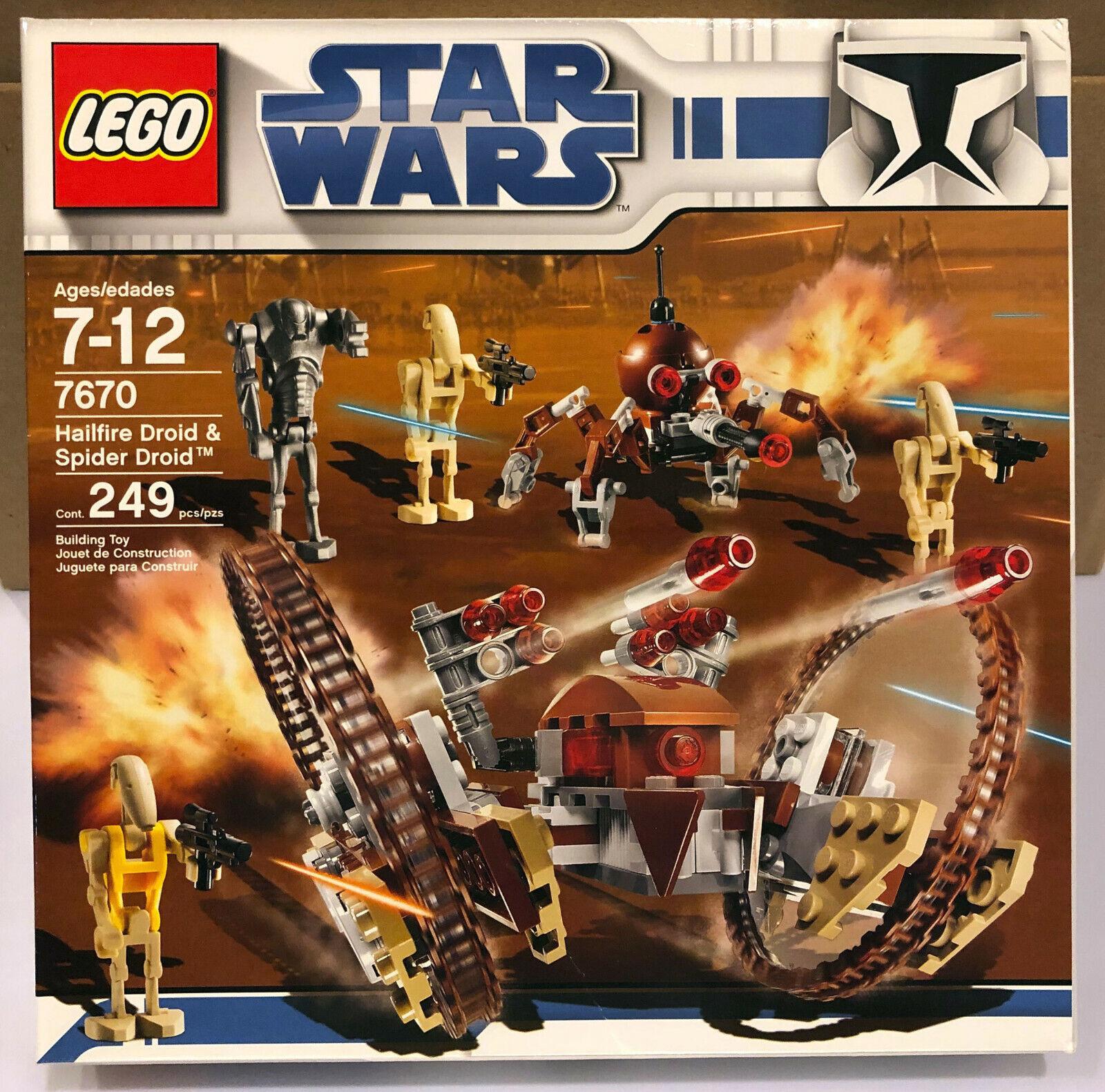 LEGO STAR WARS 7670 Hailfire Droid & Spider Droid  Nouveau DGSIM SEALED CLONE WARS