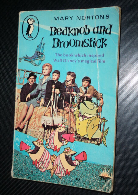 Bedknob and Broomstick ~ Mary Norton Puffin Pb 1971 Became Disney Movie Shabby