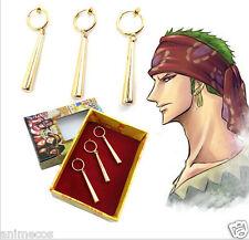 One Piece Pirate Hunter Roronoa Zoro Cosplay Ear Clip Earrings New in Box