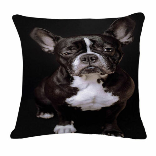 """18/"""" Poodle Printed Pillow Case Cute Dog Cushion Cover Bedroom Sofa Home Decor"""