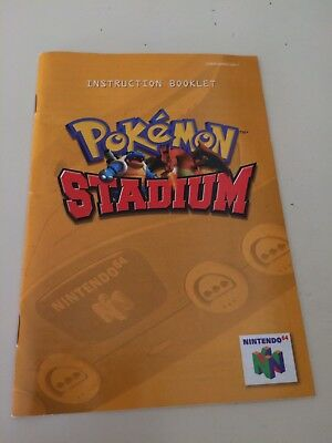 Video Games & Consoles Pokemon Stadium Replacement Manual