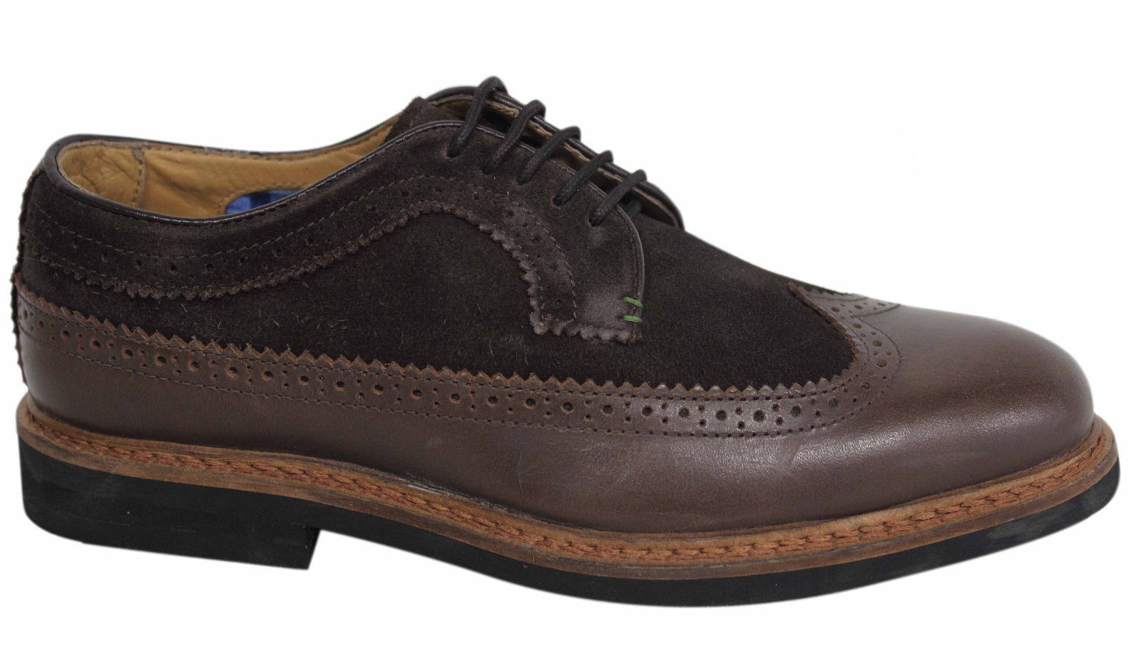 Ben Sherman Garry Peach Lace Up Brown Leather Suede Oxford shoes Brown 002 U20
