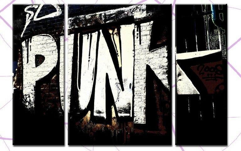 Graffiti punk 3 Images toile 120x80 états-unis streetart