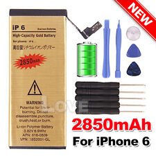 2850 mAh For Apple iPhone 6 High Quality Replacement Battery Gold Tools Kit