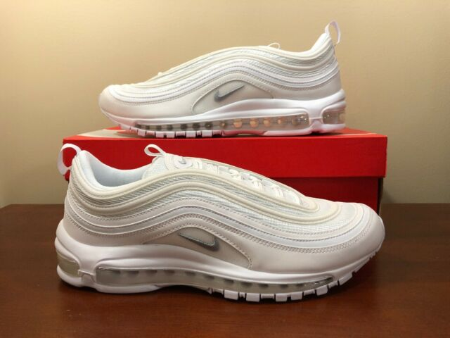 official photos d0423 3ebd8 Nike Air Max 97 OG Triple White Wolf Grey Men Shoes SNEAKERS 921826-101 10