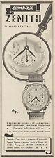 Z3225 Orologio ZENITH Compax - Pubblicità d'epoca - 1939 Old advertising