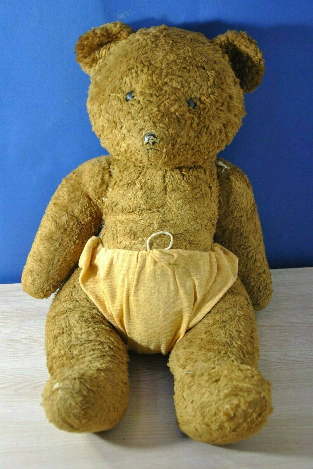 Vintage big soviet teddy bear. 1940-50 USSR . 48 cm