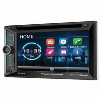 Power Acoustik 6.2 Double Din Receiver With Bluetooth