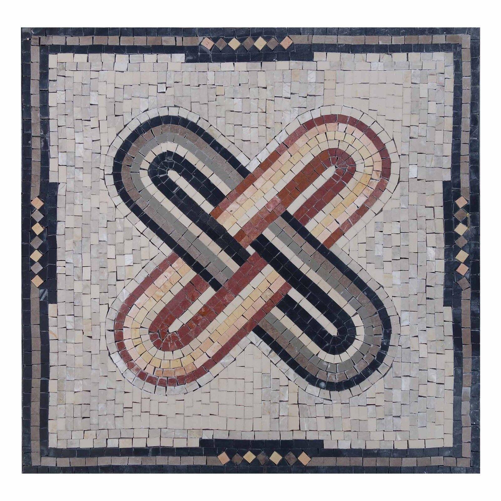 Ubreakable Bond Geometric ColGoldt Tablet Marble, Stone Fine Mosaic Wall art,