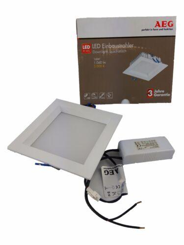 AEG LED Einbaustrahler Deckenspot Quadratisch Innen 130x130mm 16W 1060 lm 3000K
