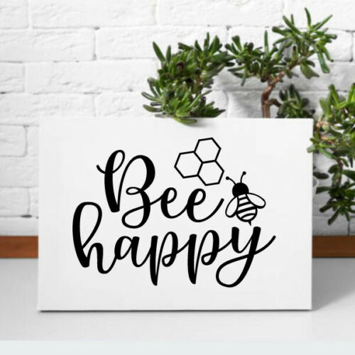 Bee Happy Vinyl Removable Wall Decal Sticker Kitchen Living Room Dining Room
