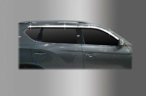 Auto Clover Cromo Deflector de Viento Set Para Ssangyong Rexton G4 2018+ 6 Piezas