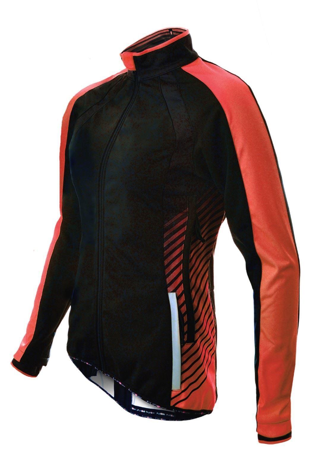 Chaqueta Ciclismo Funkier Tacona WJ-1324  Mujer Windstopper Negro Rojo Xs  mejor oferta