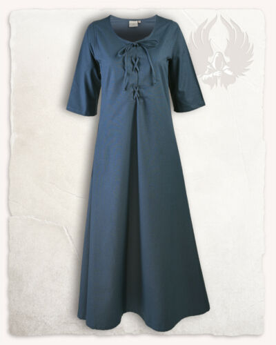 E#00477 Irene Kleid blau S Larp Mittelalter Reenactment Kostüm
