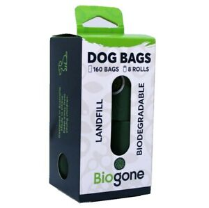 Biodegradable-Dog-Poo-Bag-BioGone-8-Portable-Refill-Rolls-160-Dog-Waste-Bags
