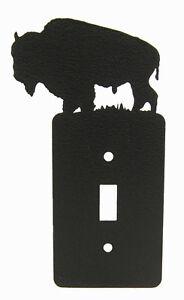 Buffalo-Bison-Single-Switch-Plate-Black