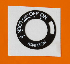 DUCATI-748-916-900SS-MONSTER-NINETIES-MODEL-IGNITION-SWITCH-POSITION-DIAL-DECAL