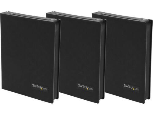Black 3pk StarTech HDDCASE25BK 2.5in Anti-Static Hard Drive Protector Case