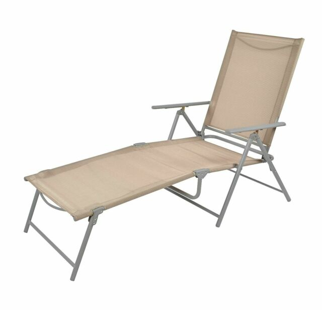 Admirable Sling Folding Patio Lounger Tan Threshold Lot Of 2 Bralicious Painted Fabric Chair Ideas Braliciousco