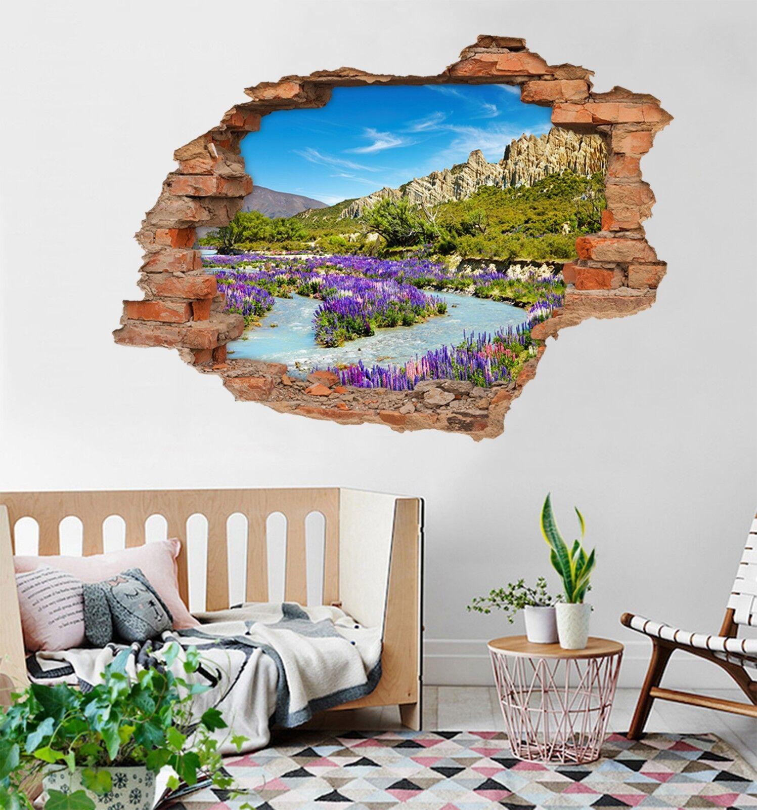 3D Fluss Blumen 319 Mauer Murals Mauer Aufklebe Decal Durchbruch AJ WALLPAPER DE