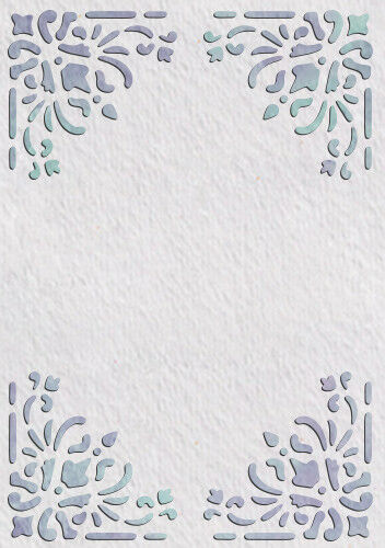 Corners Vintage Stencil Template Journaling Card Making Paint Crafts Wall CO1