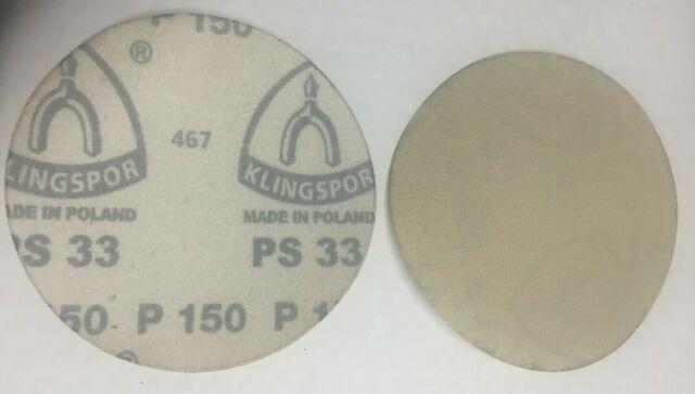 """25 pc  5/"""" Sanding Discs 600 Grit NO Holes Hook /& Loop  by Klingspor"""