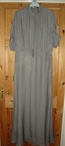 BNWT MAYSAA Ladies Stone Open Front Short Sleeved Jumpsuit Maxi Dress Size 16