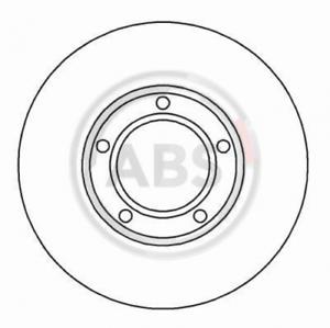 2 x ABS 15814 Bremsscheibe