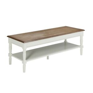 Details About Convenience Concepts French Country Coffee Table Driftwood White 6042184dftw