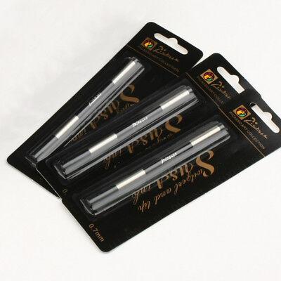 Screw Type 0.7 mm 5PCS Picasso Pimio Rollerball Pen Ink Refills Black Color