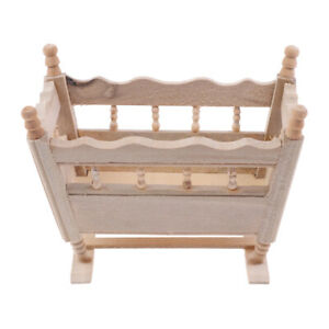 1-12-Dollhouse-Miniature-Wooden-Cardle-Baby-Bed-Model-Accessories-Toys-YK