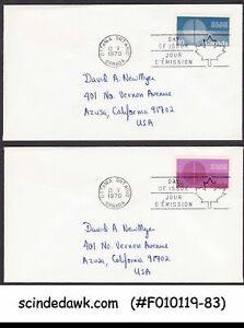 CANADA - 1970 25th ANNIVERSARY OF UNITED NATIONS SET OF 2 FDC