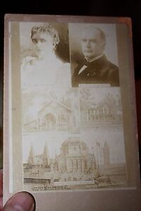 Cabinet Photo of President McKinley & wife home burial vault & music palace