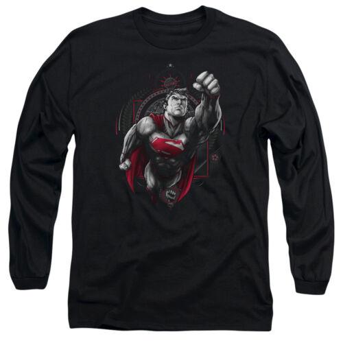 Superman PROPAGANDA SUPERMAN Licensed Adult Long Sleeve T-Shirt S-3XL