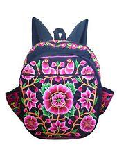 Damenrucksack Stoff Rucksack hand gewebt und bestickt Hmong Blume n Hippie 32101