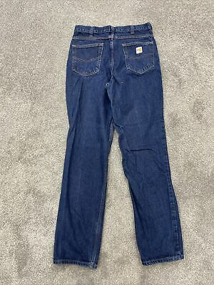 Carhartt Fr Denim Straight Leg Jeans Men 34x34 Flame Resistant Pants Ebay