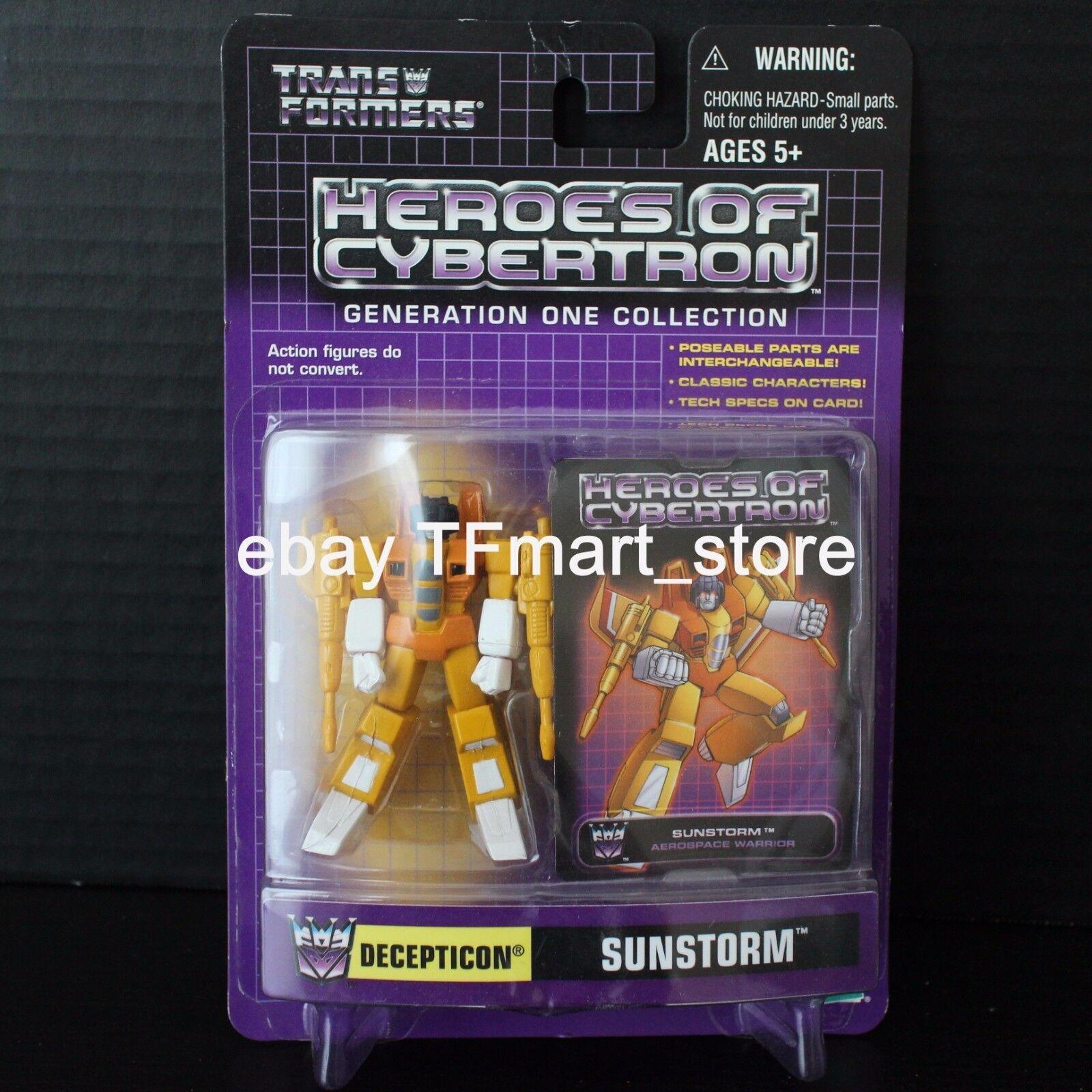 Transformers Heroes Of Cybertron Decepticon Sunstorm 2004 Botcon Hoc Act